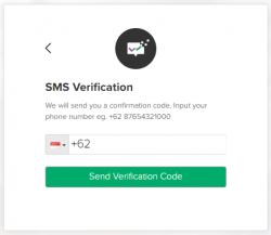 sms verifikasi stockbit
